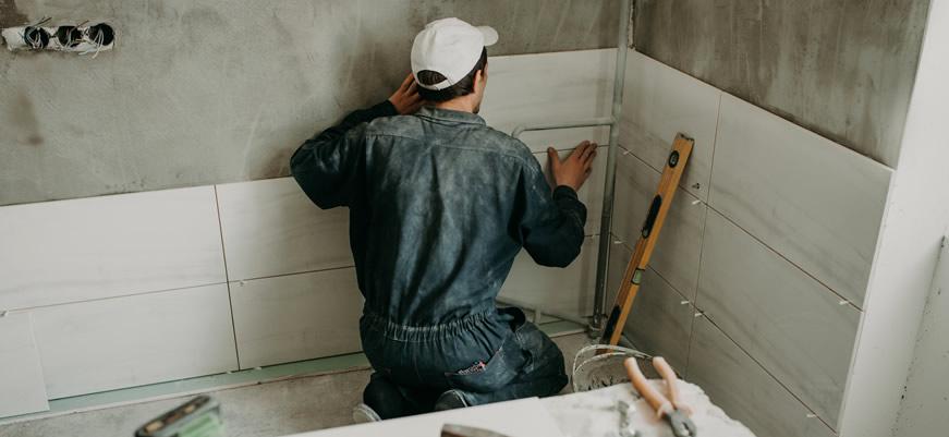Umbau und Renovierung des Badezimmers